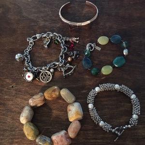 Jewelry - Assortment of Bracelets, 1 J-Jill & 4 Others
